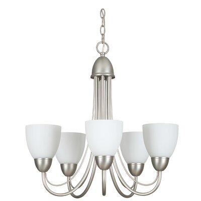 Willow 5-Light Shaded Chandelier Finish: Satin Nickel
