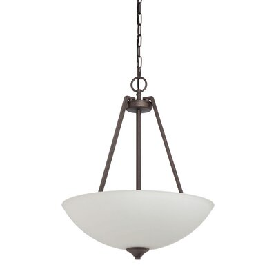 Jazley 3-Light Inverted Pendant Finish: Blackened Bronze