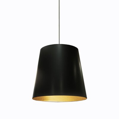Odum 1-Light Pendant Finish: Black/Gold, Size: 20 H x 20 W x 20 D