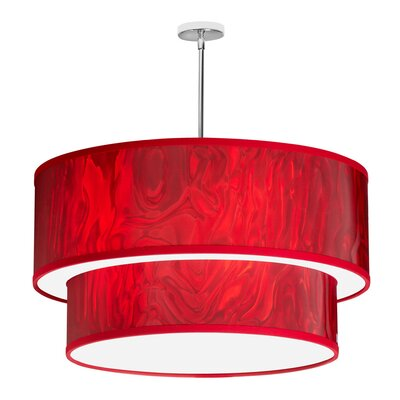 Nasquin 6-Light Drum Pendant Shade Color: Red
