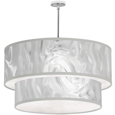 Nasquin 6-Light Drum Pendant Shade Color: Polished Chrome