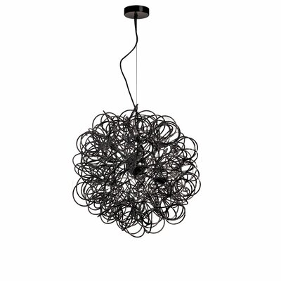 Baya 8-Light Geometric Pendant Finish: Black, Size: 24 x 24 x 24