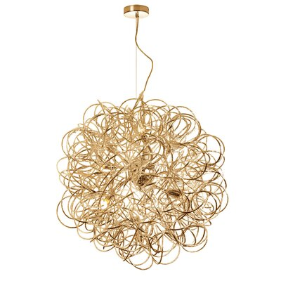 Baya 8-Light Geometric Pendant Size: 18 x 18 x 18, Finish: Gold
