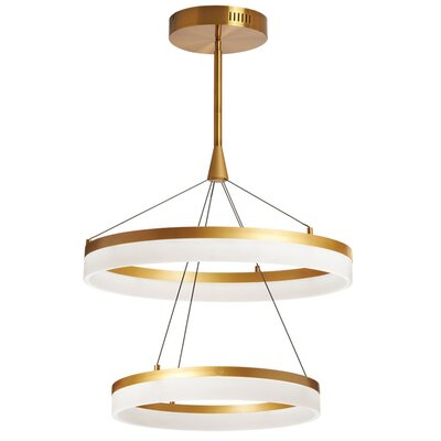 Kepler 1-Light Mini Pendant Finish: Gold