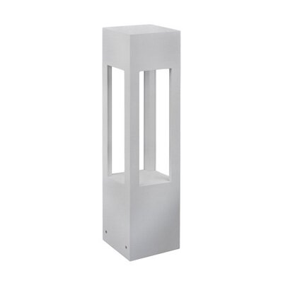 Frannie 1-Light Exterior Bollard Finish: Brushed Nickel, Size: 24 H x 5.9 W x 5.9 D