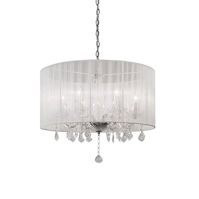 Jemly 6-Light Drum Chandelier Shade Color: White