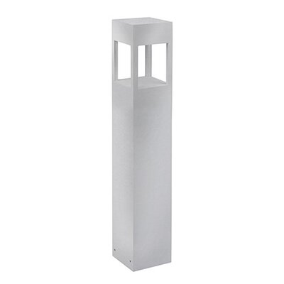 Frannie 1-Light Exterior Bollard Finish: Brushed Nickel, Size: 36 H x 5.9 W x 5.9 D