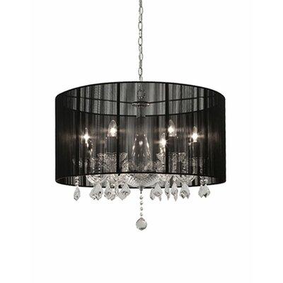Jemly 6-Light Drum Chandelier Shade Color: Black