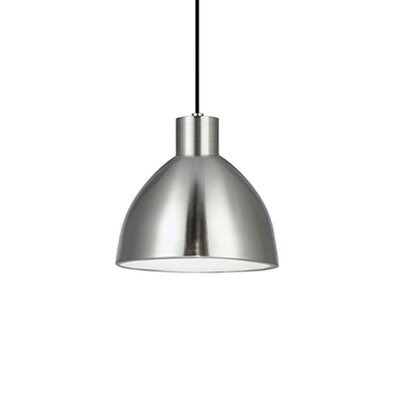 Babell 1-Light Bowl Pendant Shade Color: Brushed Nickel, Size: 6.3 H x 6.25 W x 6.25 D