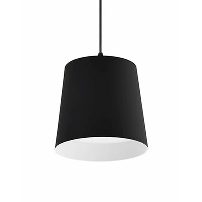 Brookside 1-Light Mini Pendant Finish: Black