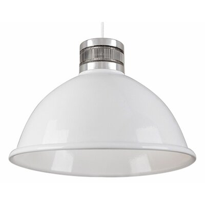 Babell 1-Light Bowl Pendant Finish: White, Size: 13.5 H x 18.5 W x 18.5 D