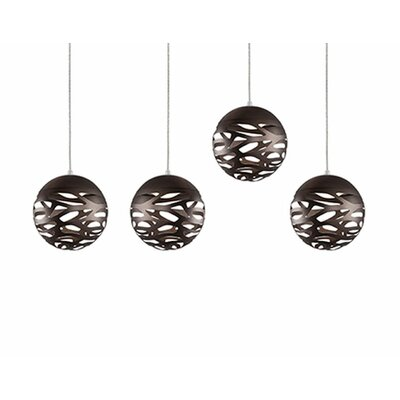 Gregor 4-Light Cascade Pendant Shade Color: Bronze