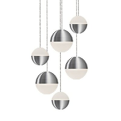 Divine 6-Light Cascade Pendant Shade Color: Brushed Nickel