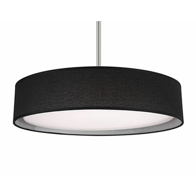 Heather 1-Light Drum Pendant Shade Color: Black, Size: 4.2 H x 20 W x 20 D