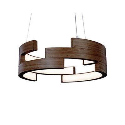 City Chic 1-Light Geometric Pendant Finish: Walnut, Size: 5 H x 15.75 W x 15.75 D
