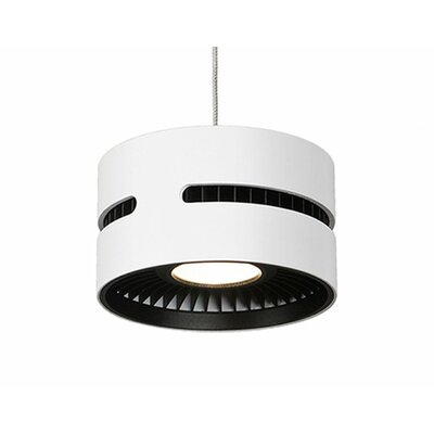 Ultra 1-Light Drum Pendant Shade Color: White