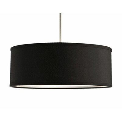 Nevaeh 3-Light Drum Pendant Shade Color: Black, Size: 15.4 H x 15.4 W x 15.4 D