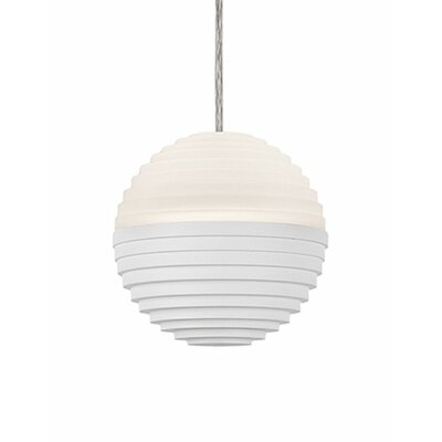 Divine 1-Light Globe Pendant Shade Color: White/Cream