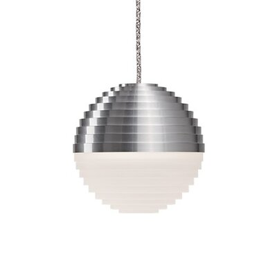 Divine 1-Light Globe Pendant Shade Color: Brushed Nickel/Cream