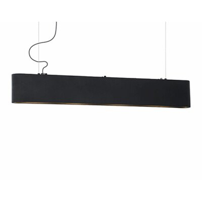 Hailey 4-Light Kitchen Island Pendant Finish: Black
