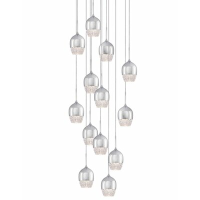 Cabaret 13-Light Cascade Pendant Finish: Chrome