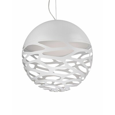 Gregor 1-Light Globe Pendant Shade Color: White, Size: 19 H x 19 W x 19 D