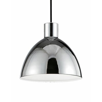 Babell 1-Light Bowl Pendant Shade Color: Chrome, Size: 10.5 H x 11.75 W x 11.75 D