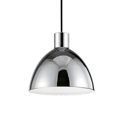 Babell 1-Light Bowl Pendant Shade Color: Chrome, Size: 8.25 H x 8.6 W x 8.6 D