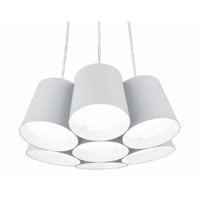 Brookside 1-Light Pendant Finish: White
