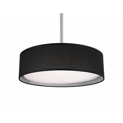 Heather 1-Light Drum Pendant Shade Color: Black, Size: 4.2 H x 16 W x 16 D