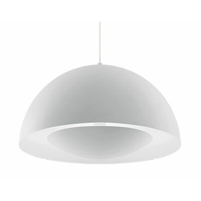 Karmis 1-Light Bowl Pendant Finish: White, Size: 13 H x 26 W x 26 D