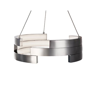 City Chic 1-Light Geometric Pendant Finish: Brushed Nickel, Size: 5 H x 15.75 W x 15.75 D