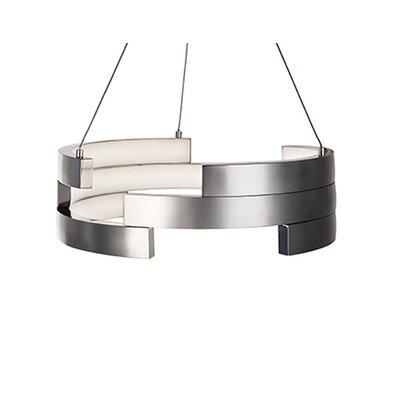 City Chic 1-Light Geometric Pendant Size: 5 H x 15.75 W x 15.75 D, Finish: Brushed Nickel