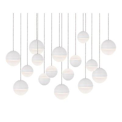 Divine 16-Light Cascade Pendant Shade Color: White/Cream