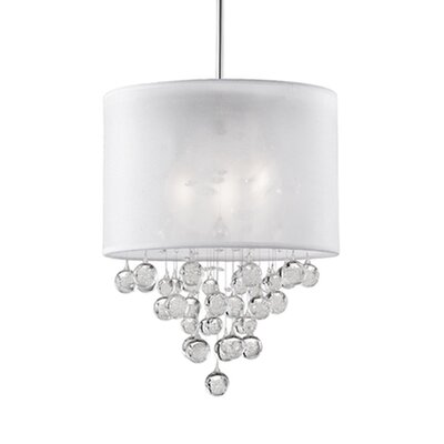 Ophelia 3-Light Crystal Pendant Shade Color: White