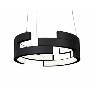 City Chic 1-Light Geometric Pendant Finish: Black, Size: 5 H x 15.75 W x 15.75 D