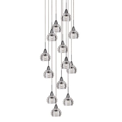 Ellen 13-Light Cascade Pendant