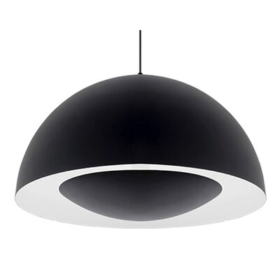 Karmis 1-Light Bowl Pendant Finish: Black, Size: 16.75 H x 35.5 W x 35.5 D