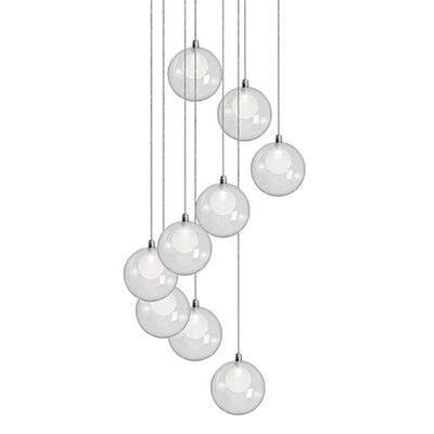 City Chic 9-Light Cascade Pendant