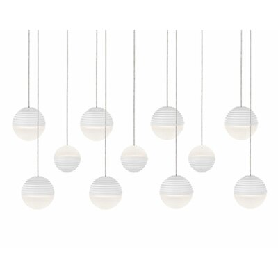 Divine 11-Light Cascade Pendant Shade Color: White/Cream