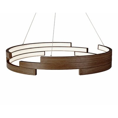 City Chic 1-Light Geometric Pendant Finish: Walnut, Size: 5 H x 31.5 W x 31.5 D