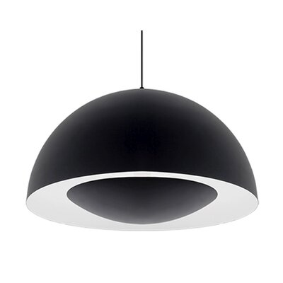 Karmis 1-Light Bowl Pendant Finish: Black, Size: 13 H x 26 W x 26 D