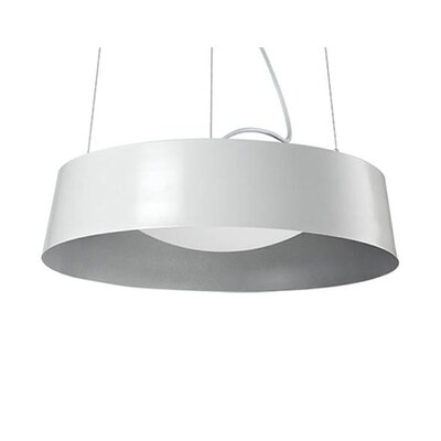 Hailey 1-Light Drum Pendant Finish: White