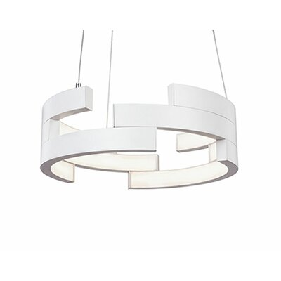 City Chic 1-Light Geometric Pendant Size: 5 H x 15.75 W x 15.75 D, Finish: White