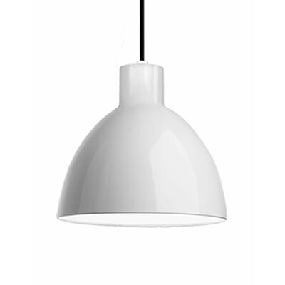 Babell 1-Light Bowl Pendant Shade Color: White, Size: 10.5 H x 11.75 W x 11.75 D