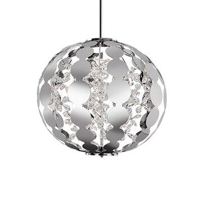 Flora 1-Light Globe Pendant Size: 25 H x 25 W x 25 D