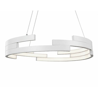 City Chic 1-Light Geometric Pendant Finish: White, Size: 5 H x 31.5 W x 31.5 D