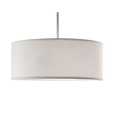 Nevaeh 3-Light Drum Pendant Shade Color: White, Size: 19.75 H x 19.75 W x 19.75 D