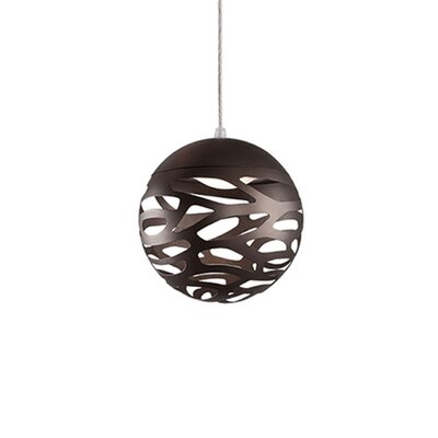 Gregor 1-Light Globe Pendant Shade Color: Bronze, Size: 7 H x 7 W x 7 D
