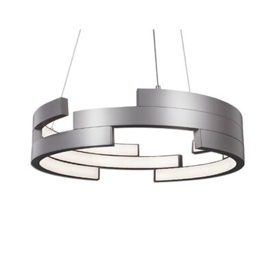 City Chic 1-Light Geometric Pendant Finish: Brushed Nickel, Size: 5 H x 21.6 W x 21.6 D